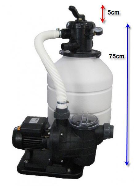 Sandfilteranlage MONO 400 - mit TORPEDO 50 - 8 m3/h