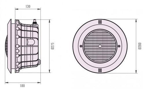 LED Scheinwerfer WEISS - komplett mit Einbaunische