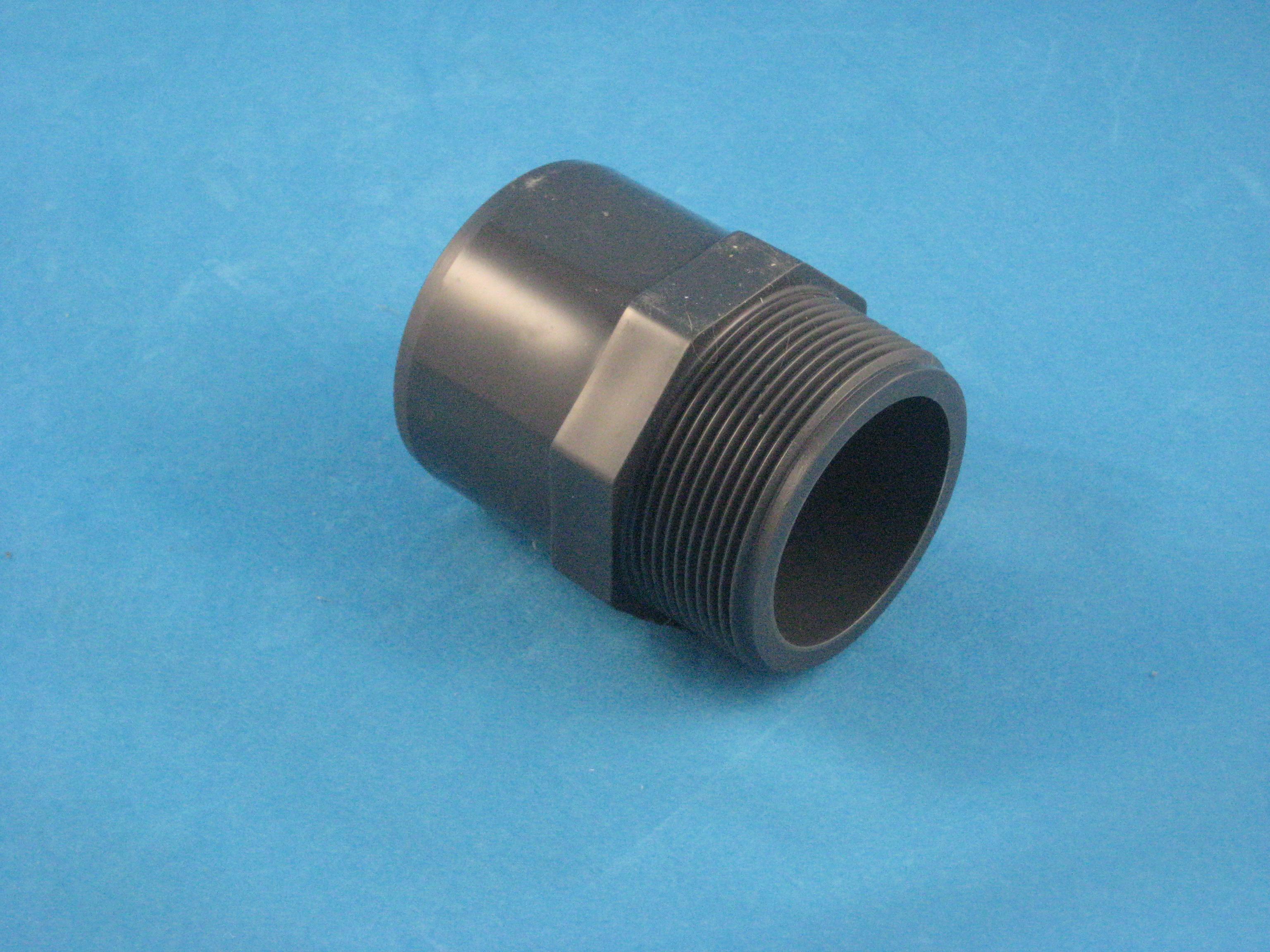 PVC Muffennippel D50/DA63 - 2 Zoll AG