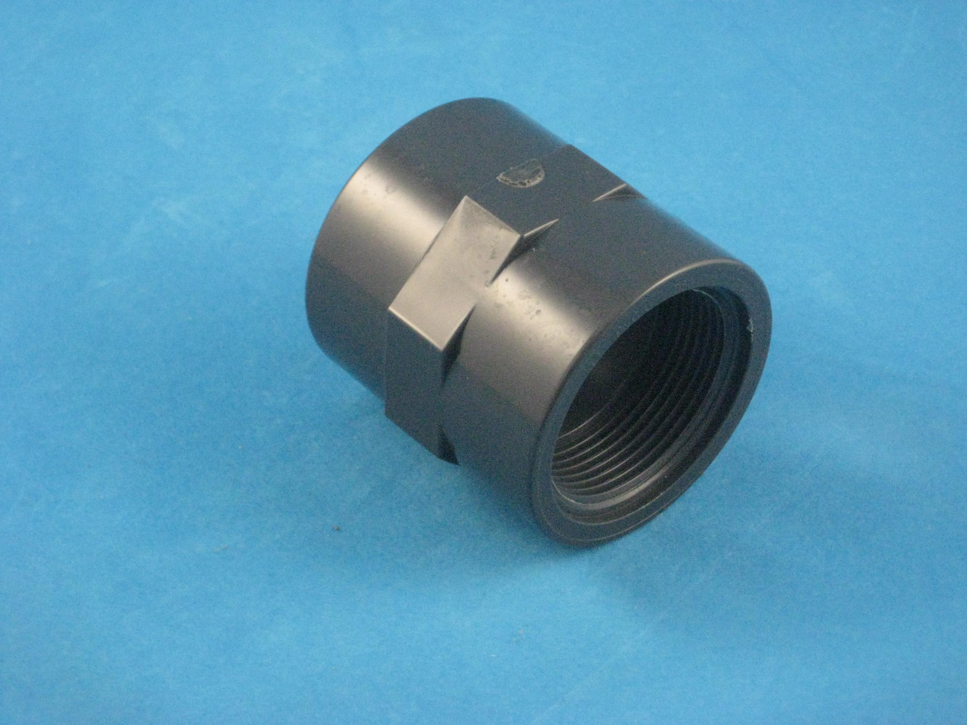 PVC Übergangsstück - Klebemuffe D63 auf 2'' IG