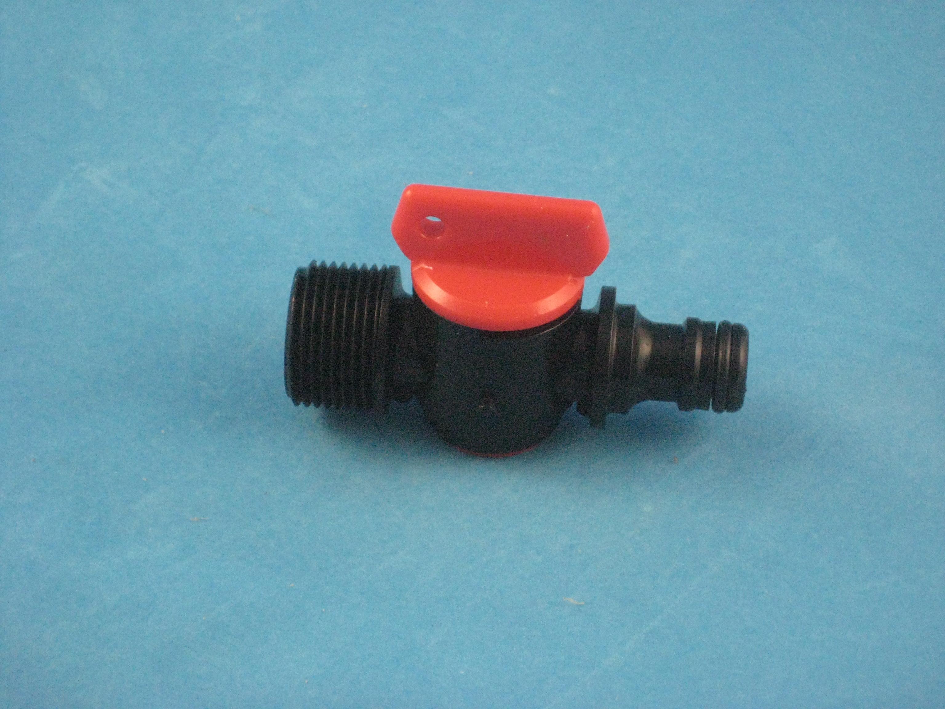 PVC Ablassventil 3/4 AG mit Schlauchtülle