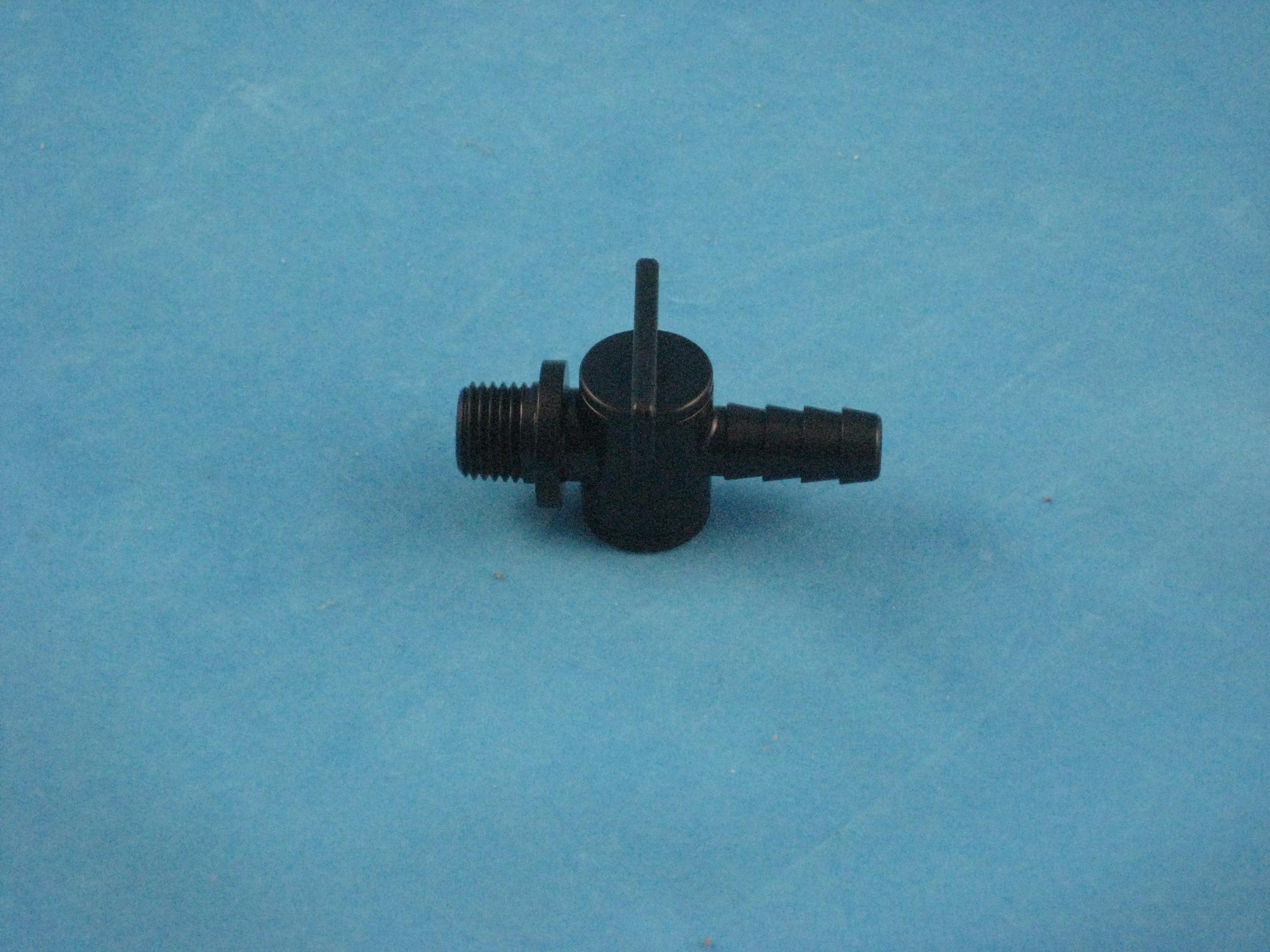 PVC Ablassventil 1/4 AG x NW 10