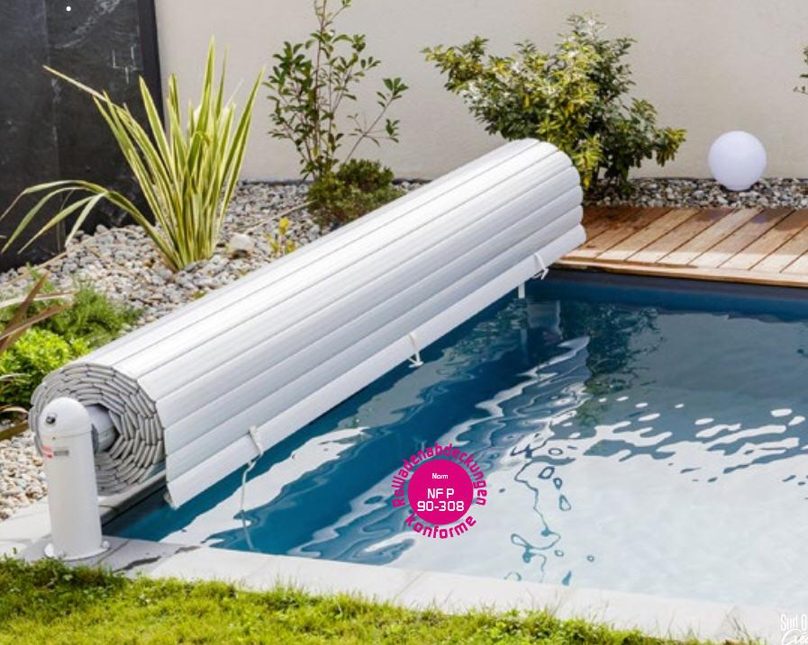 OPEN NEO Pool Rolladen Bsp 7 x 3.5 m - WEISS